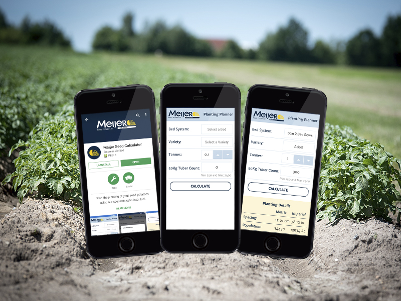 Meijer Seed Potato App Project Screenshot