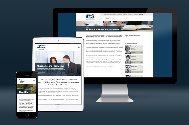 Capron & Helliwell Solicitors website launched