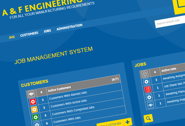 A&F Engineering Job Management System Project Screenshot 4