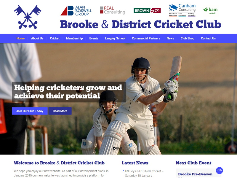 Image of the Brooke CC website
