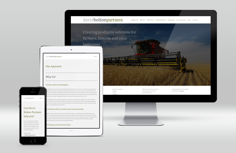 Image for article: David Bolton Partners Responsive Website