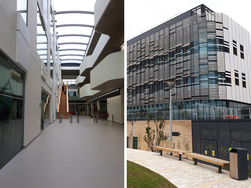 Quadram Institute - inside and outside of building
